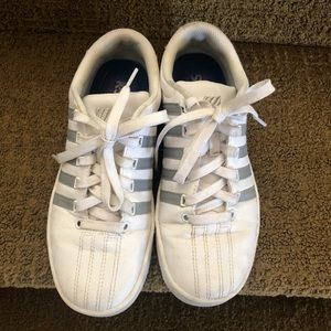 Girls K Swiss white shoes